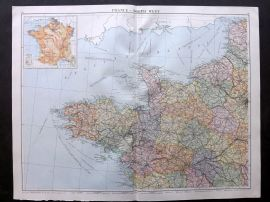 Gross 1920 Large Map. France - North West